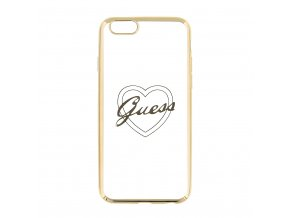 Pouzdro / kryt pro Apple iPhone 6 / 6S - Guess, Signature Heart Gold