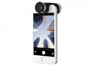 Objektiv 4in1 lens system pro Apple iPhone 5 / 5S / SE - Olloclip (silver and black)