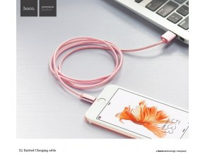 Kabel lightning pro iPhone a iPad bez MFI - Hoco, X2 Rose Gold
