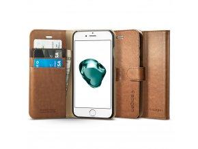 Pouzdro / kryt pro iPhone 7 PLUS / 8 PLUS - Spigen, Wallet S Brown