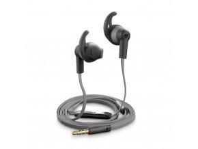 Sportovní sluchátka pro iPhone a iPad - CellularLine, WASP Black - VÝPRODEJ
