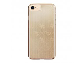 Pouzdro / kryt pro Apple iPhone 7 - Guess, 4G Aluminum Gold