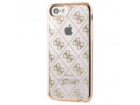 Pouzdro / kryt pro Apple iPhone 7 / 8 - Guess, 4G TPU Gold