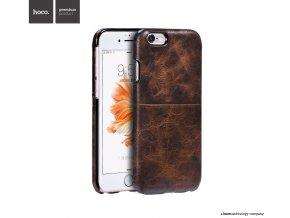Pouzdro / kryt pro Apple iPhone 6 / 6S - Hoco, Platinum Dark Coffee