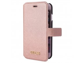 Pouzdro / kryt pro Apple iPhone 7 / 6S / 6 - Guess, Saffiano Book Pink