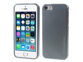 Pouzdro / kryt pro Apple iPhone 5 / 5S / SE - Mercury, i-Jelly Gray