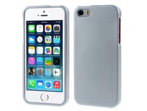 Pouzdro / kryt pro Apple iPhone 5 / 5S / SE - Mercury, i-Jelly Silver