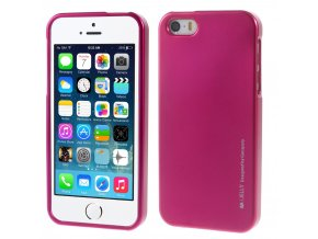 Pouzdro / kryt pro Apple iPhone 5 / 5S / SE - Mercury, i-Jelly Hotpink
