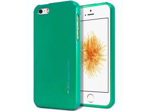 Pouzdro / kryt pro Apple iPhone 5 / 5S / SE - Mercury, i-Jelly Green