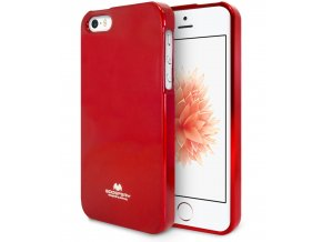 Pouzdro / kryt pro Apple iPhone 5 / 5S / SE - Mercury, Jelly Case Red