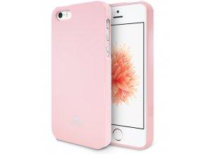 Pouzdro / kryt pro Apple iPhone 5 / 5S / SE - Mercury, Jelly Case Pink