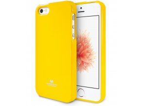 Pouzdro / kryt pro Apple iPhone 5 / 5S / SE - Mercury, Jelly Case Yellow