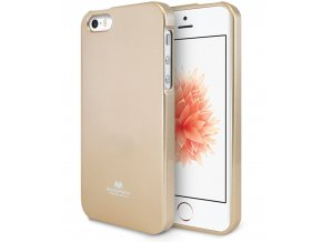 Pouzdro / kryt pro Apple iPhone 5 / 5S / SE - Mercury, Jelly Case Gold