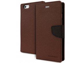 Pouzdro / kryt pro Apple iPhone 5 / 5S / SE - Mercury, Fancy Diary Brown/Black