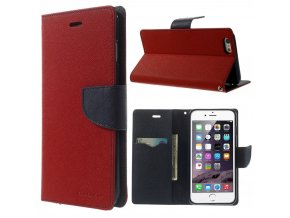 Pouzdro / kryt pro Apple iPhone 6 Plus / 6S Plus - Mercury, Fancy Diary RED/NAVY