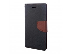 Pouzdro / kryt pro iPhone 7 - Mercury, Fancy Diary BLACK/BROWN
