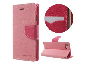 Pouzdro / kryt pro iPhone 7 / 8 - Mercury, Fancy Diary PINK/HOTPINK
