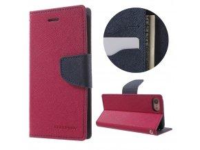 Pouzdro / kryt pro iPhone 7 - Mercury, Fancy Diary HOTPINK/NAVY