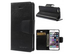 Pouzdro / kryt pro Apple iPhone 5 / 5S / SE - Mercury, Sonata Diary Black