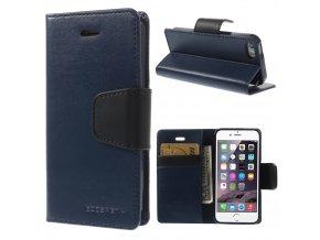 Pouzdro / kryt pro Apple iPhone 5 / 5S / SE - Mercury, Sonata Diary Navy