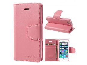 Pouzdro / kryt pro Apple iPhone 5 / 5S / SE - Mercury, Sonata Diary Pink