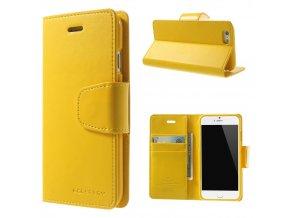 Pouzdro / kryt pro Apple iPhone 6 / 6S - Mercury, Sonata Diary Yellow