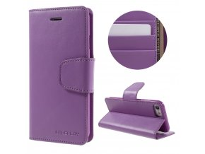 Pouzdro / kryt pro iPhone 7 / 8 - Mercury, Sonata Diary Purple