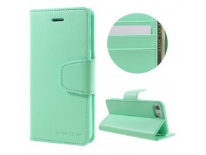 Pouzdro / kryt pro iPhone 7 / 8 - Mercury, Sonata Diary Mint