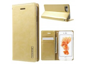 Pouzdro / kryt pro iPhone 7 / 8 - Mercury, Bluemoon Flip Gold
