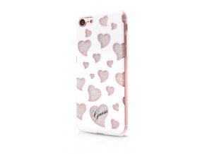 Pouzdro / kryt pro Apple iPhone 7 / 8 - Guess, Hearts TPU White