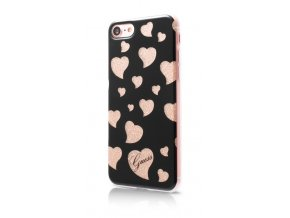 Pouzdro / kryt pro Apple iPhone 7 - Guess, Hearts TPU Black
