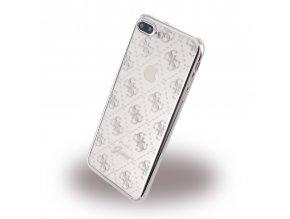 Pouzdro / kryt pro Apple iPhone 7 PLUS - Guess, 4G TPU Silver