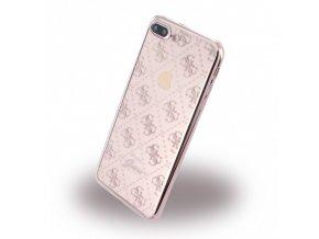 Pouzdro / kryt pro Apple iPhone 7 PLUS - Guess, 4G TPU Rose Gold