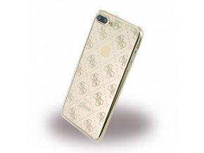 Pouzdro / kryt pro Apple iPhone 7 PLUS - Guess, 4G TPU Gold