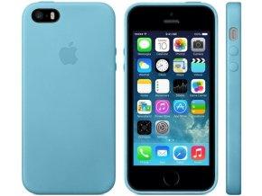 Pouzdro / kryt pro iPhone 5 / 5S / SE - Apple, Leather Case Blue (MF044FE/A)