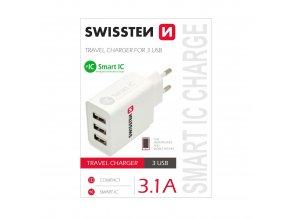 Nabíjecí AC adaptér pro iPhone a iPad - SWISSTEN, 3.1A