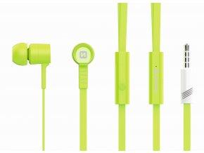 Sluchátka pro iPhone a iPad - SWISSTEN, EARBUDS RAINBOW GREEN