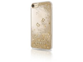 Pouzdro / kryt pro Apple iPhone 7 / 6s / 6 - Guess, Liquid Glitter Gold
