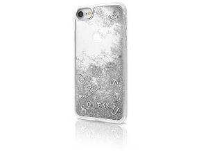 Pouzdro / kryt pro Apple iPhone 7 / 6s / 6 - Guess, Liquid Glitter Silver