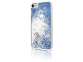 Pouzdro / kryt pro Apple iPhone 7 / 6s / 6 - Guess, Liquid Glitter Blue