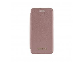 Pouzdro / kryt pro Apple iPhone 8 PLUS / 7 PLUS / 6S PLUS / 6 PLUS - Guess, IriDescent Book RoseGold