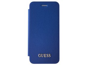 Pouzdro / kryt pro Apple iPhone 8 / 7 / 6s / 6 - Guess, IriDescent Book Blue