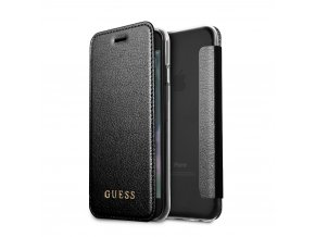 Pouzdro / kryt pro Apple iPhone 8 / 7 / 6s / 6 - Guess, IriDescent Book Black