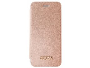 Pouzdro / kryt pro Apple iPhone 8 / 7 / 6s / 6 - Guess, IriDescent Book RoseGold