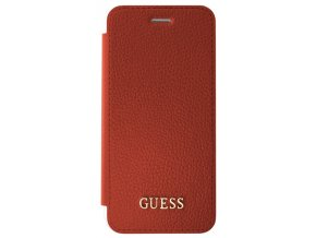 Pouzdro / kryt pro Apple iPhone 8 / 7 / 6s / 6 - Guess, IriDescent Book Red