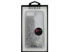 Pouzdro / kryt pro Apple iPhone 7 PLUS / 6S PLUS / 6 PLUS - Guess, Liquid Glitter Silver