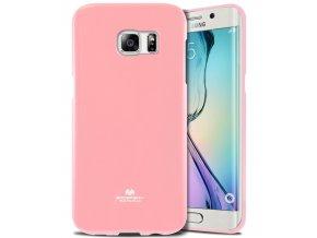 Pouzdro / kryt pro Samsung Galaxy S6 EDGE - Mercury, Jelly Pink