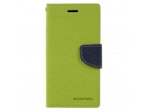 Pouzdro / kryt pro Samsung GALAXY A3 (2017) A320 - Mercury, Fancy Diary Lime/Navy