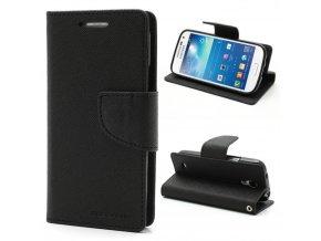 Pouzdro / kryt pro Samsung GALAXY S4 MINI I9195 - Mercury, Fancy Diary Black/Black