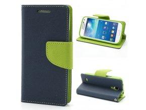 Pouzdro / kryt pro Samsung GALAXY S4 MINI I9195 - Mercury, Fancy Diary Navy/Lime